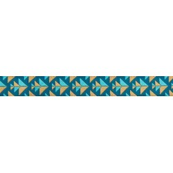 Ribbon Amy Butler Blue and Gold Positive Direction