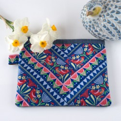 Patchwork Ribbon Pouch- Chimpmonk