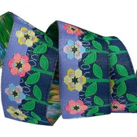 Ribbon Sue Spargo Hexy Flowers- 22mm