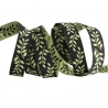 Ribbon Sue Spargo Tiny Branches Chartreuse on black 10mm