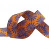 Ribbon Kaffe Fassett Gerbera purple on Marygold -22mm