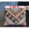 Kit Patchwork Chevron Ribbon Pouch Bird and cat