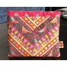 irdKit Patchwork Chevron Ribbon Pouch Bird