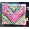 Kit Patchwork Chevron Ribbon Pouch Home made Pink