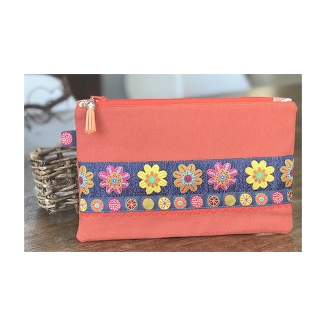 Sewing kit Colombine Two ribbons Daisies